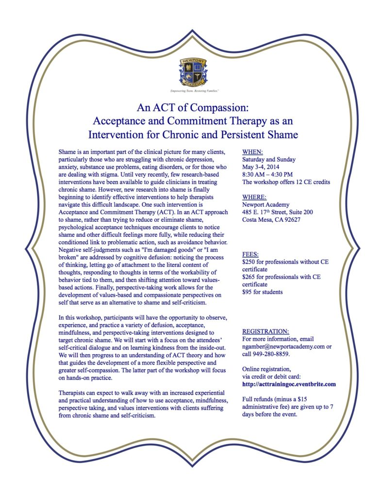 ACT Training Flyer