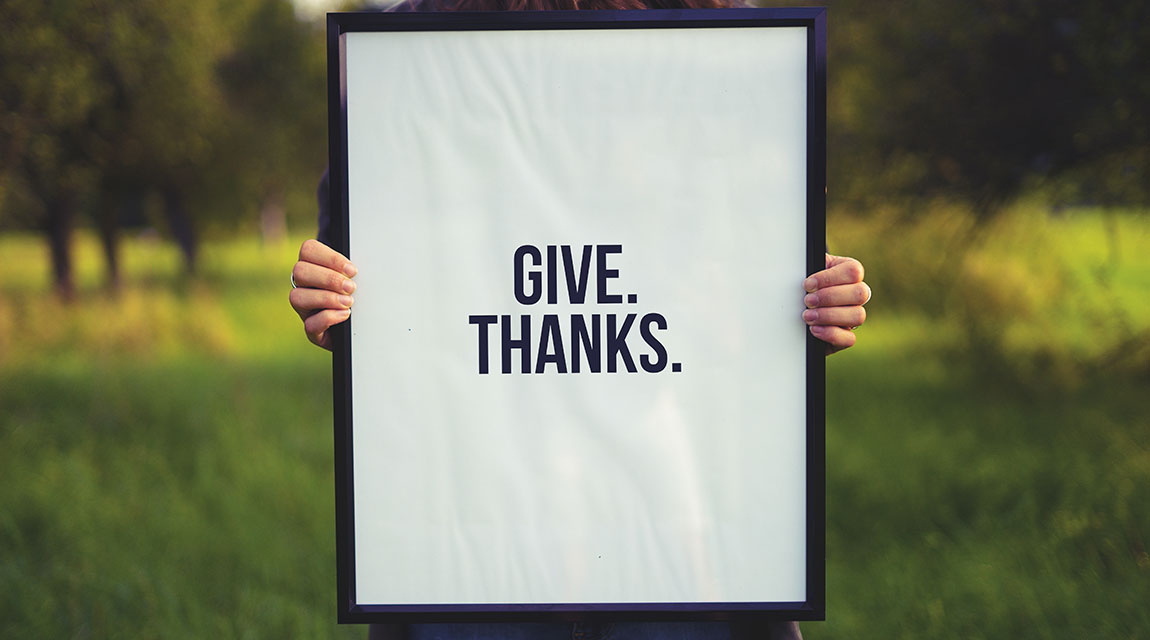 Give Thanks Sign - Holiday Traditions