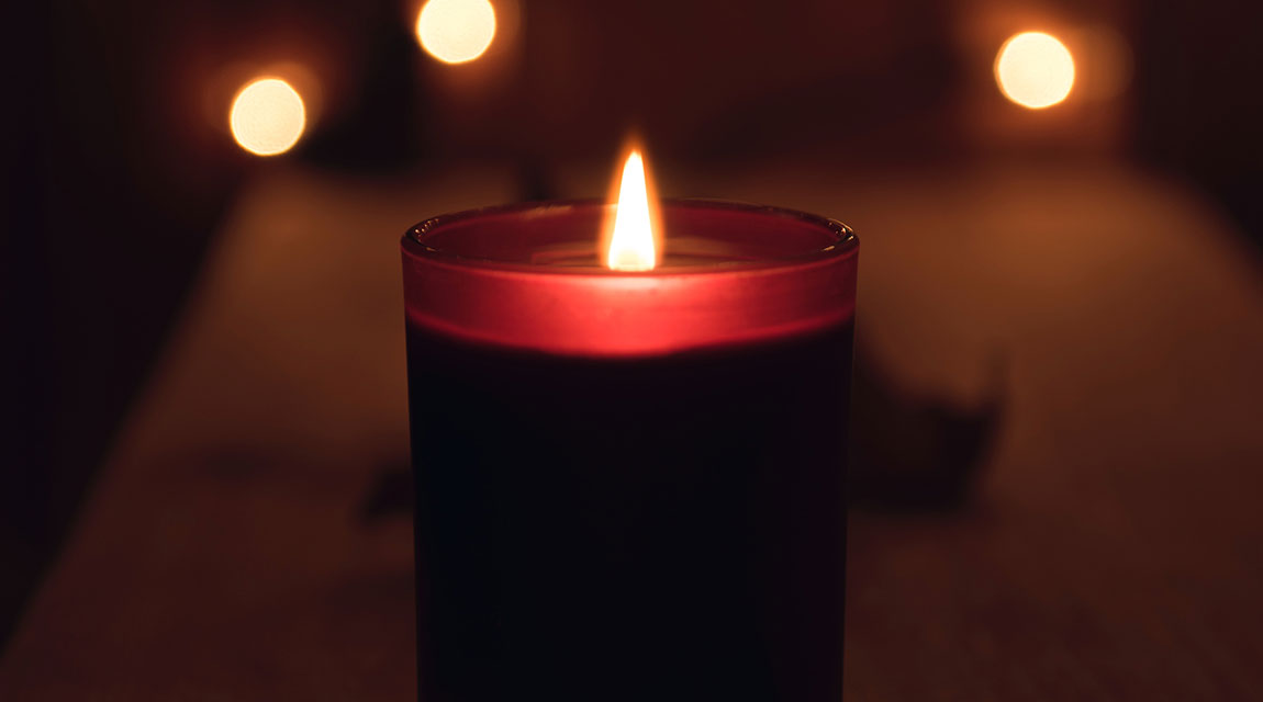 Lit Candle - Holiday Traditions