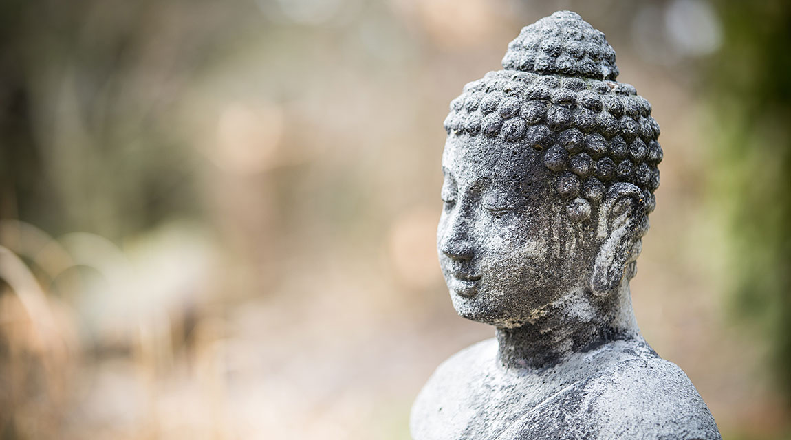 Buddha statue for meditation exercises