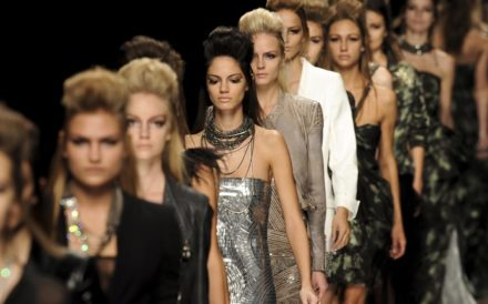 Teen body image issues - models in line