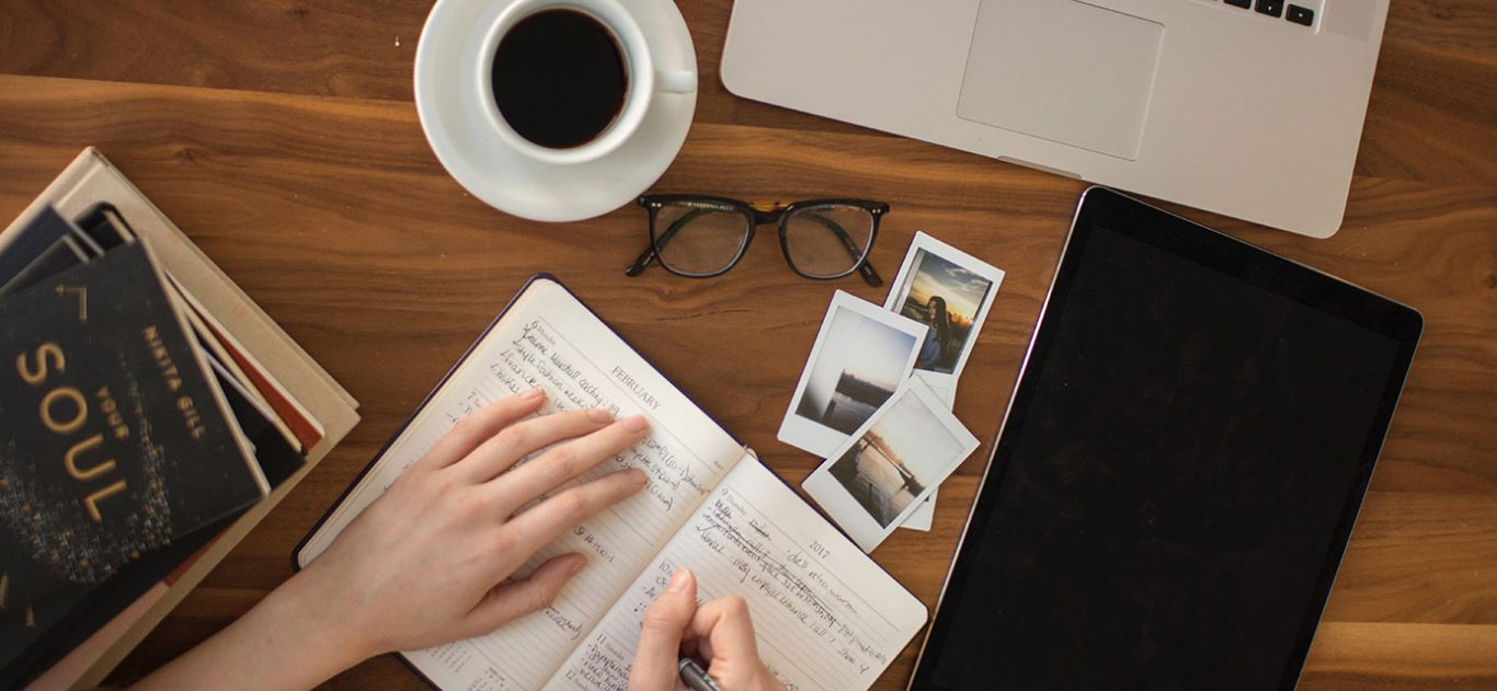 Journaling to help heal - an open book on a desk